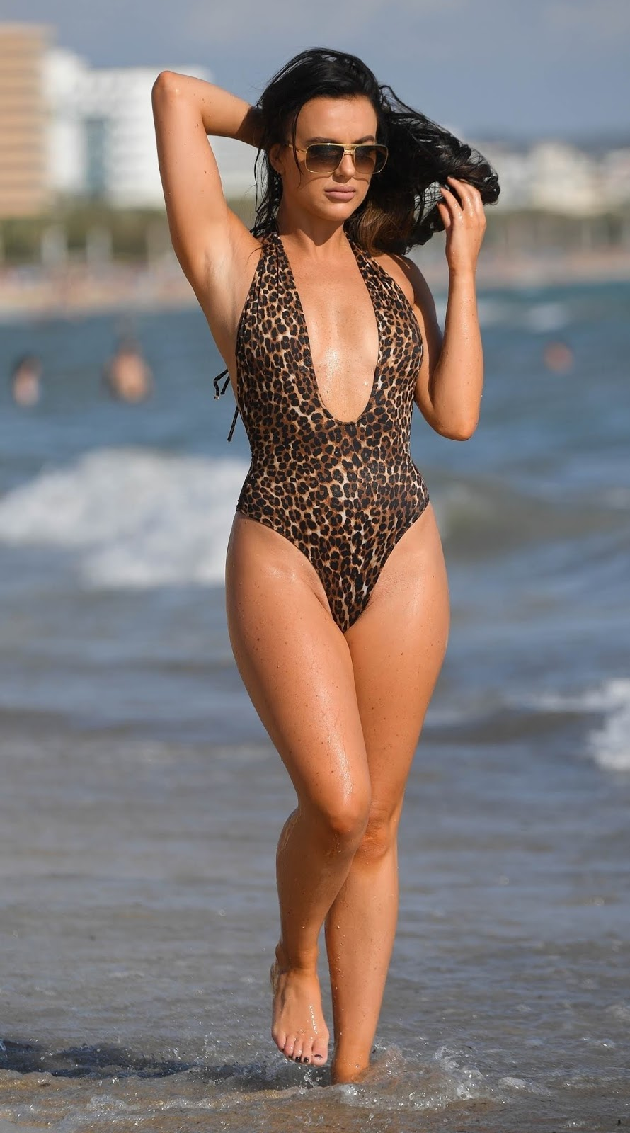 Anastasia Acosta Sexy rosie williams spotted on a beach in a sexy display in spain