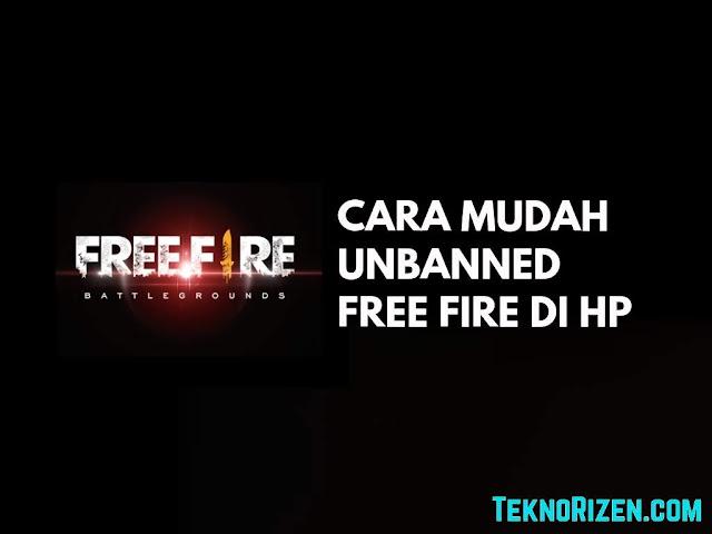 Cara Unbanned Device di Free Fire