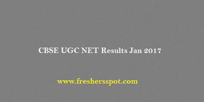 CBSE UGC NET Results Jan 2017