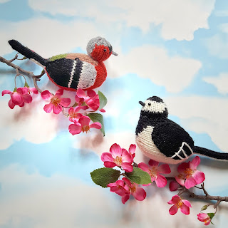 Birds knitting patterns by Nicky Fijalkowska