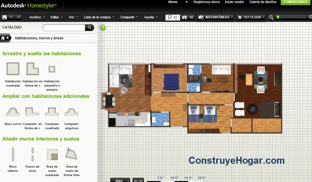 Aplicacion para dise ar planos for Casa 3d online