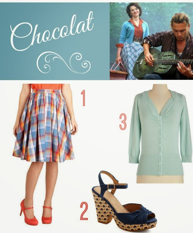 fashion and film friday chocolat vianne via Va-Voom Vintage
