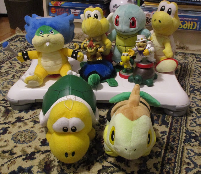 Team Tortoise turtle Koopa plushies amiibo Ludwig Squirtle Turtwig Wedding Bowser Paratroopa