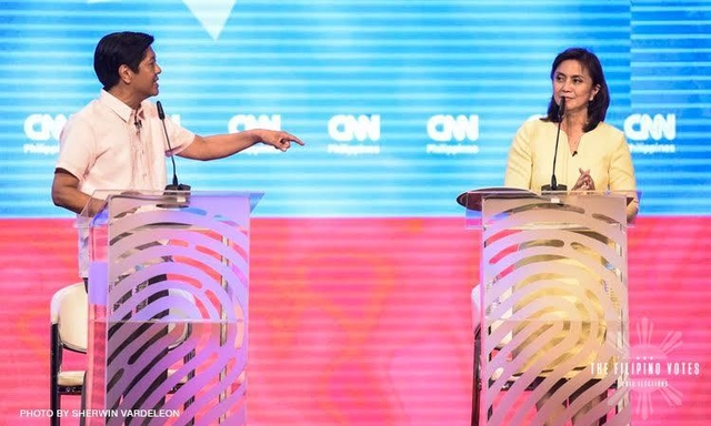 Marcos will try to battle it out against administration bet Robredo on Monday
