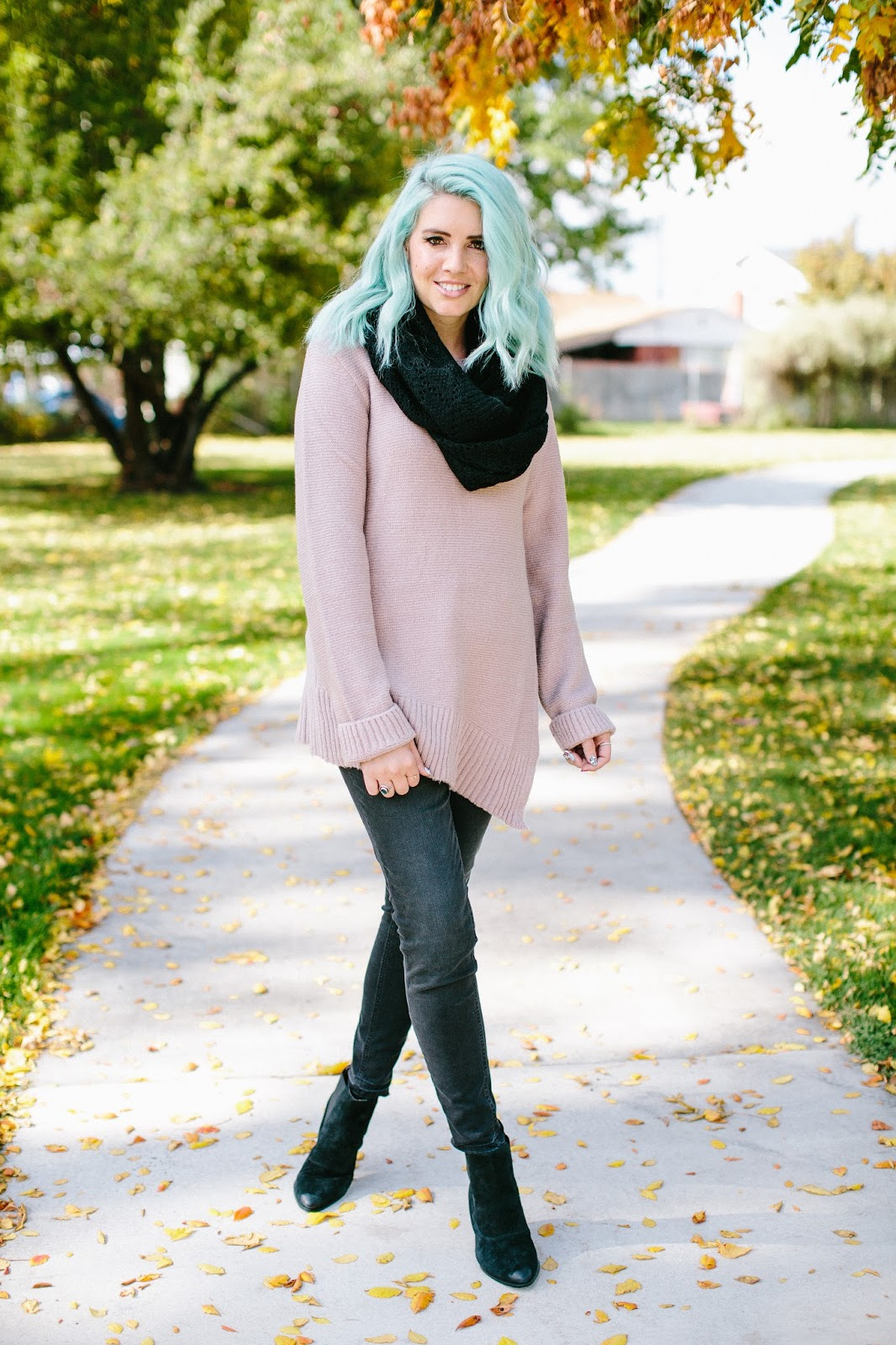 Fall Outfit, Black Booties, Modest Outfit