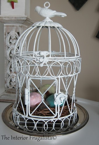 Bird Cage for our Spring Mantle under $10.00!