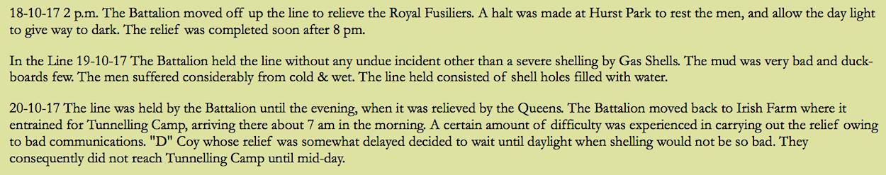 War diary, 7th Battalion, Bedfordshire Regiment