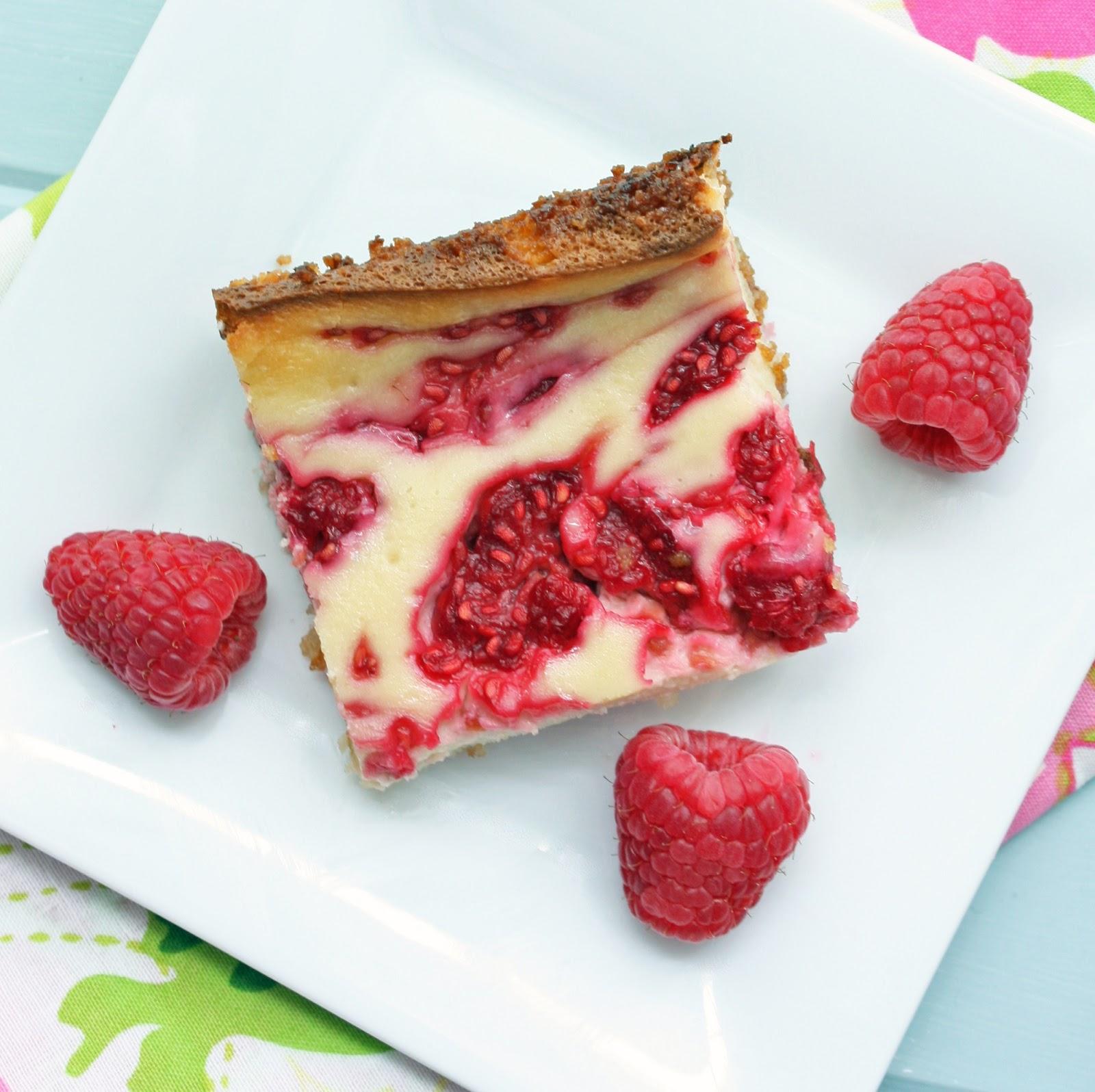 Low Carb Raspberry Cheesecake Bars