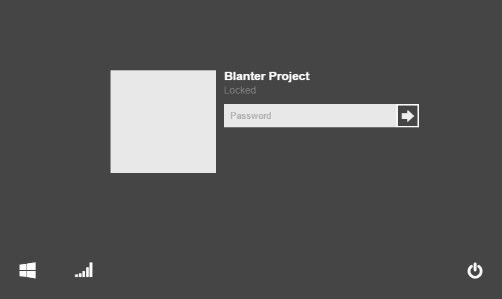 Blanter Project - Login Windows 8