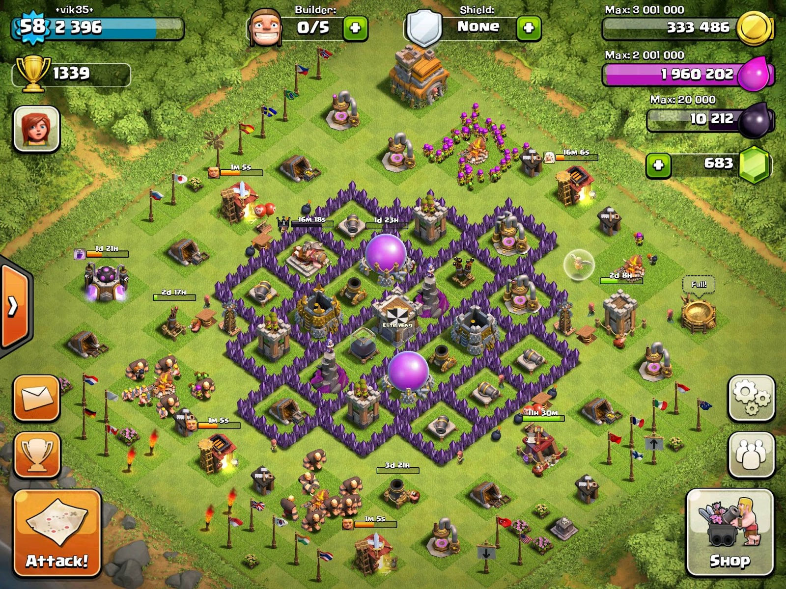 Clash of clans town hall level 7 farming base | 14+ Best TH7