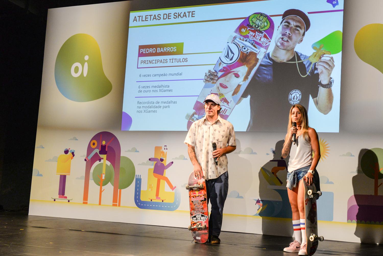 d0258fe566 Oi amplia seu time de atletas e traz os skatistas Pedro Barros e Letícia  Bufoni