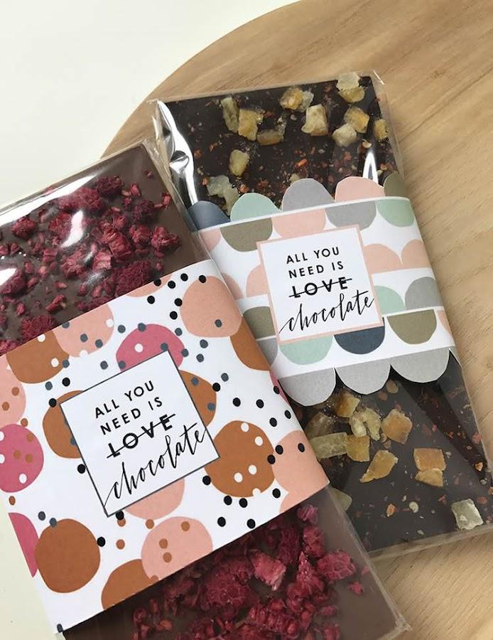 Envoltura de chocolate para imprimir gratis