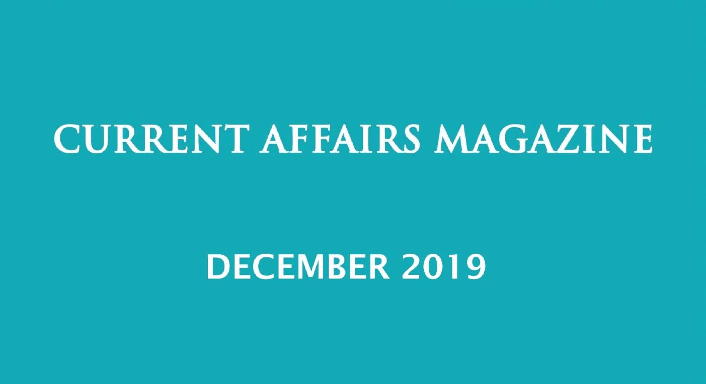 Current Affairs December 2019 iasparliament