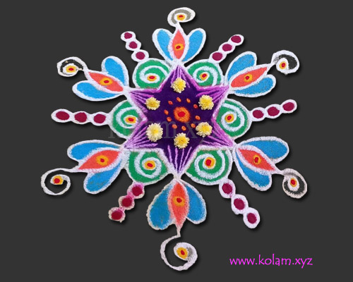 simple kolam design