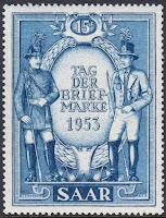 Saar Stamp Day 1953