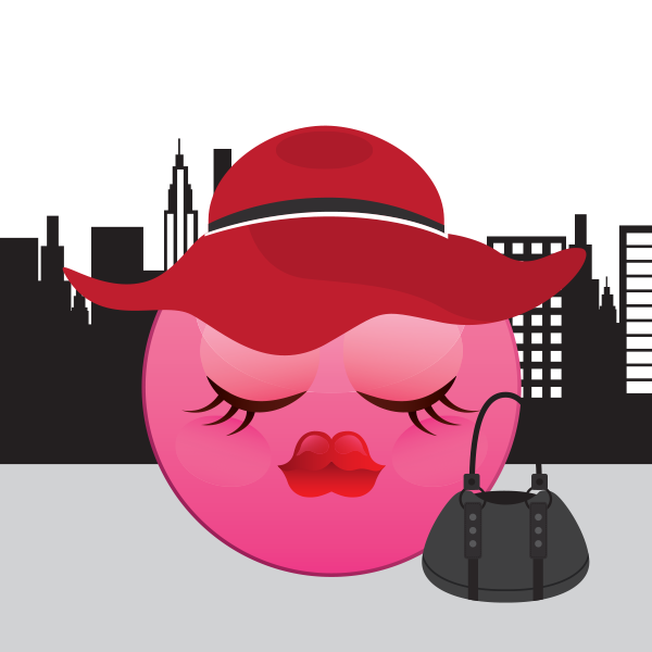 Red Hat and Purse emoji