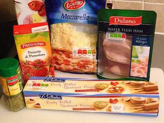 Rulos de jamón y queso, ingredientes