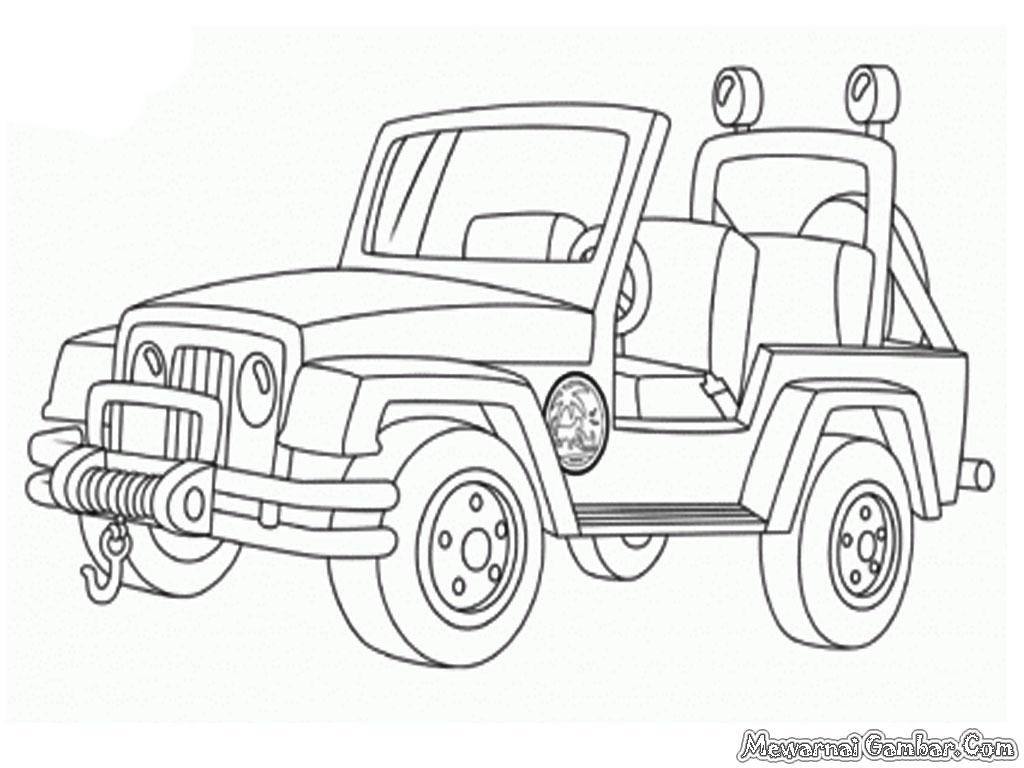 Lembar Mewarnai Mobil 2 Auto Electrical Wiring Diagram