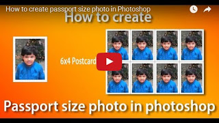 How to create passport size photo in Photoshop