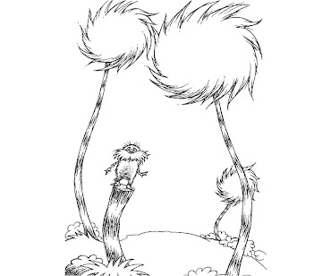 Truffle trees coloring pages ~ Lorax Mustache Template Printable Sketch Coloring Page