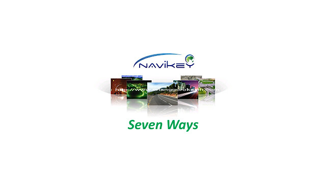 Ilustrasi tampilan GPS gratis 7Ways.