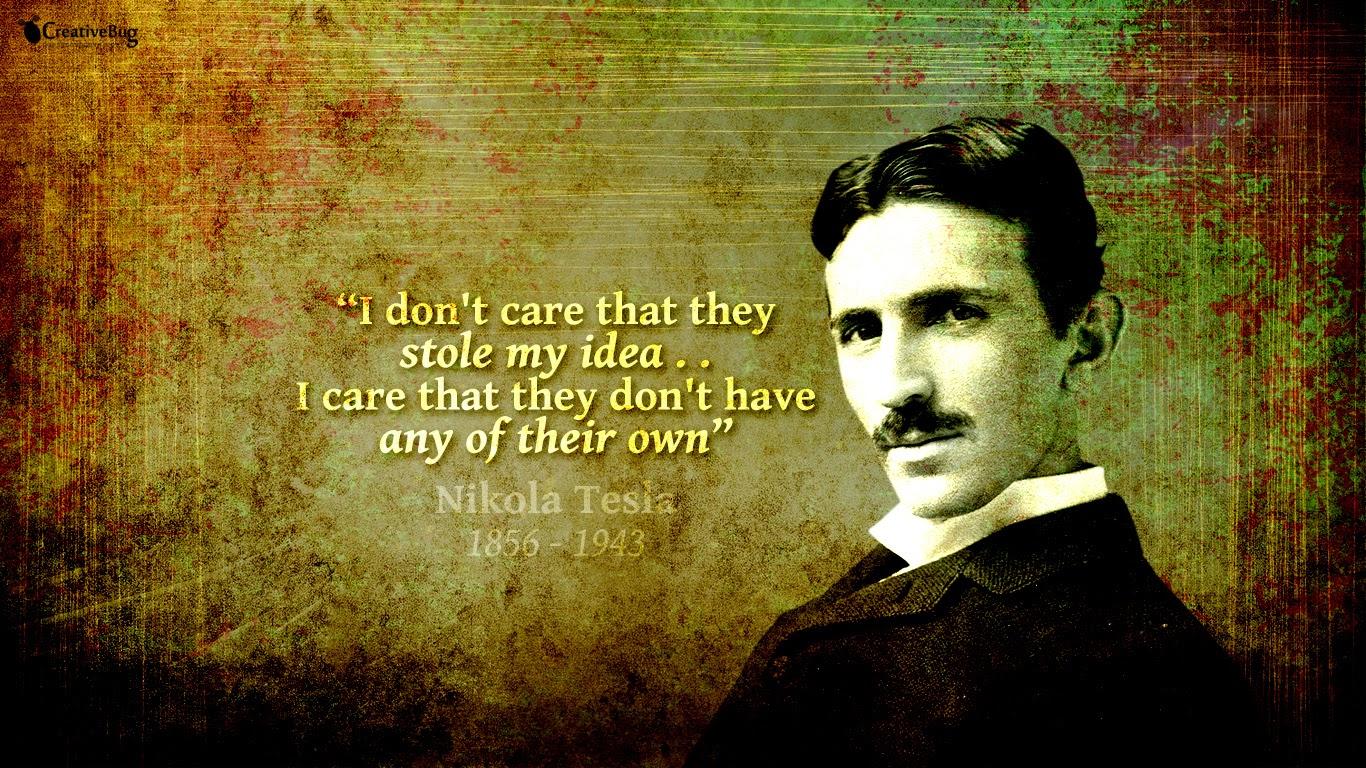 Nikola Tesla Wallpaper Quote Nikola Tesla Hd Wallpaper 1366 768 Creativebug