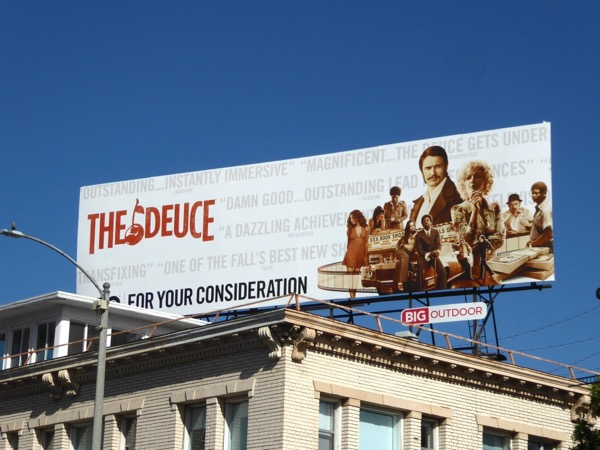 Deuce season 1 Golden Globes FYC billboard