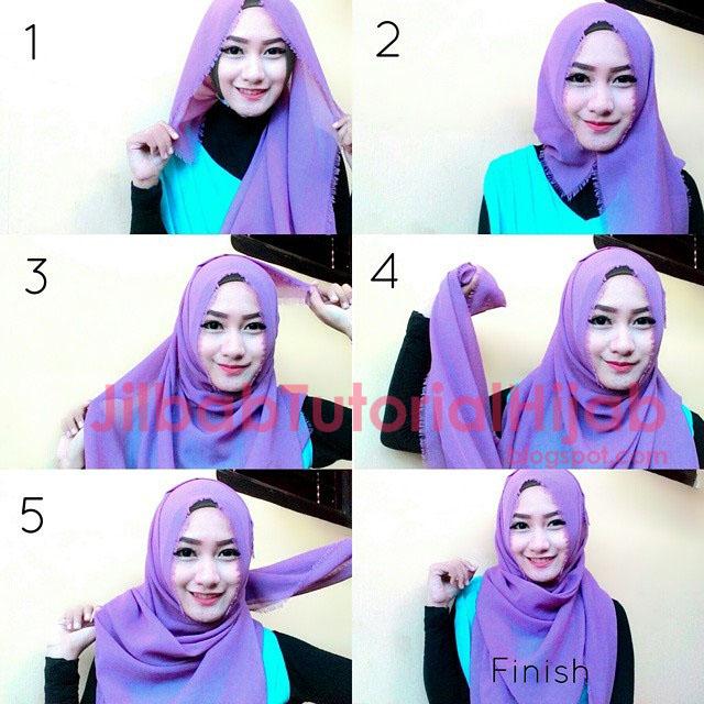Tutorial Style Hijab Segi Empat Simple 2016
