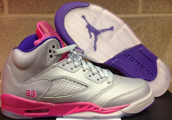 f9b8eaed5f9e4c Shop Cheap Nike Air Jordan 5 Retro Cement Grey Pink Flash-Raspbe ...