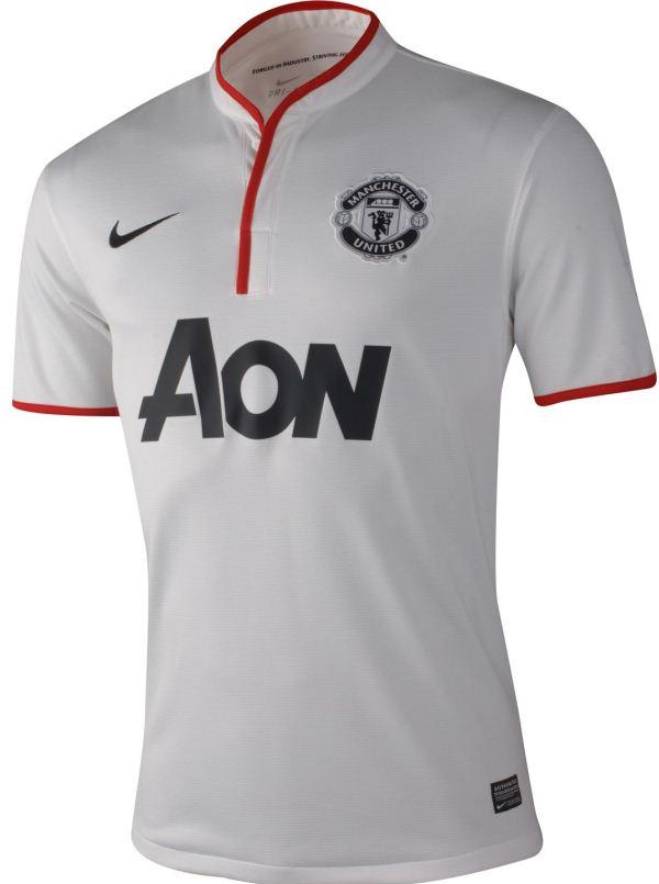 Kaos Bola MU Manchester United Away Putih 2012-2013