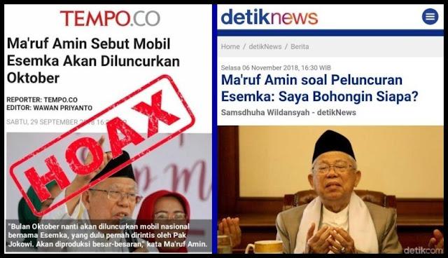 Anthony Leong: Andi Arief Tidak Sebar Hoax, Ma'ruf Amin Soal Esemka Baru Itu Hoax
