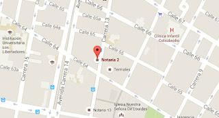 Notaria 2 Segunda en Bogota Horario - Dirección - Teléfono