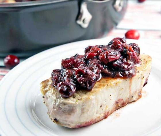 Cranberry Maple Pork Chops