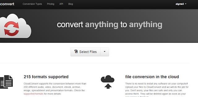 Image result for موقع Cloudconvert: