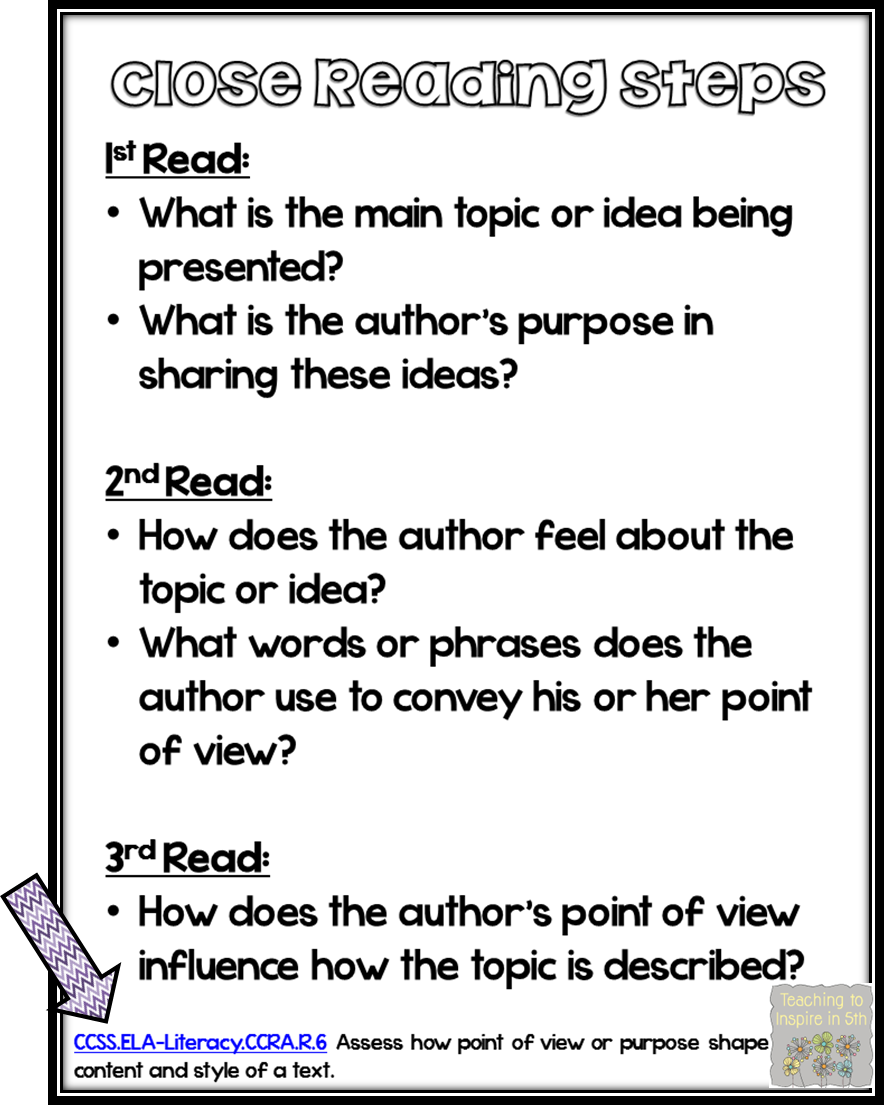 Image result for close reading examples
