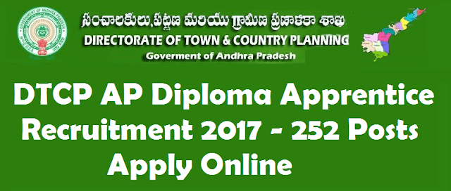 AP Jobs, AP State, AP Recruitment, AP Notifications, Diploma Apprentice Posts, Directorate of Town & Country Planning, AP DTCP