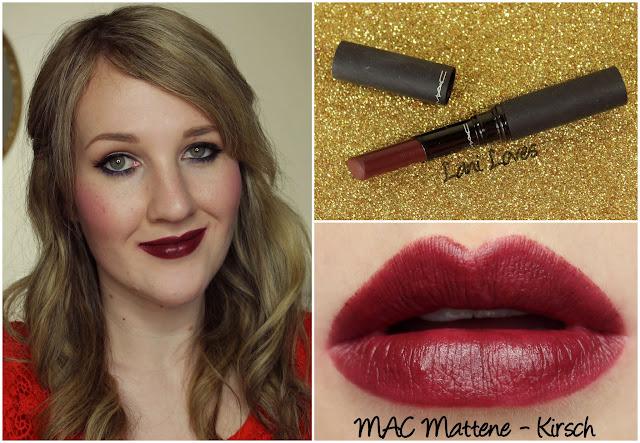 MAC Kirsch Mattene lipstick swatch