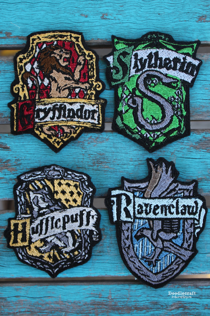 f33223a2408 We had a Harry Potter Halloween Party back in October and I wanted to sort  all the guests into houses with a sorting hat. A giant house patch for each  ...