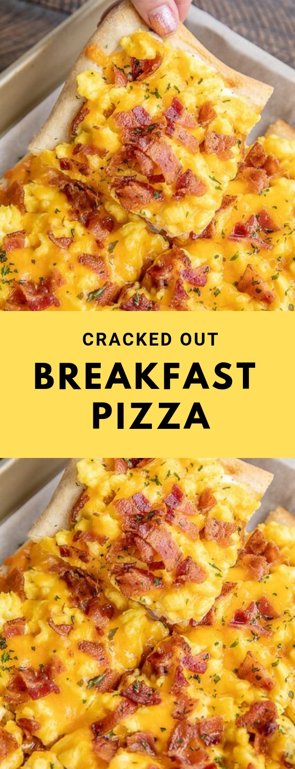 CRACKED OUT BREAKFAST PIZZA #breakfast #pizza #cheese #healthy