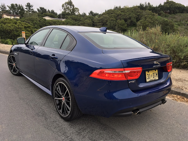 Rear 3/4 view of 2017 Jaguar XE 35t AWD