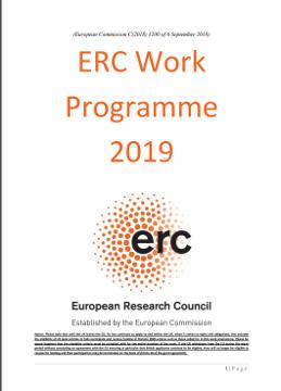 erc work programme 2019