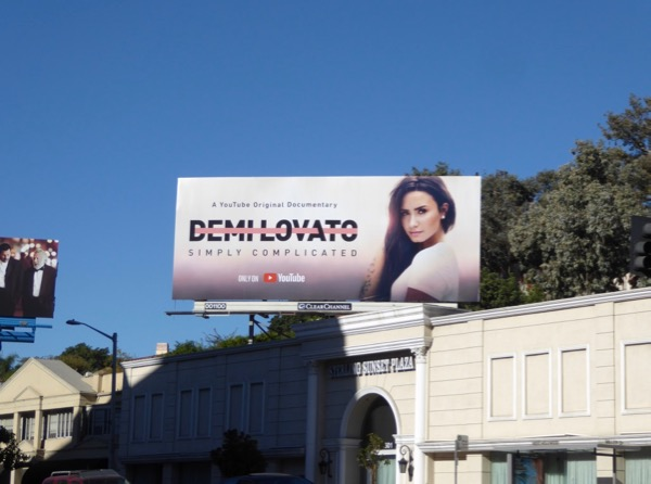 Demi Lovato Simply Complicated billboard
