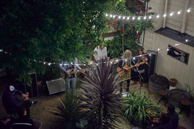The Renderers backyard house concert in San Francisco