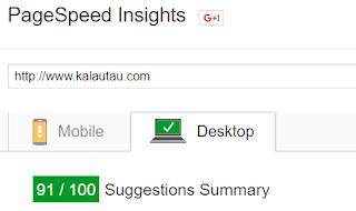 kalautau.com - Check PageSpeed Insights