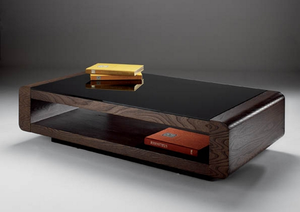Under desk storage in the living room home design and for Rounded edge coffee table