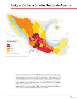Apoyo Primaria Atlas de México 4to Grado Bloque II Lección 10 Emigración hacia Estados Unidos de América