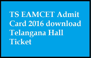 TS EAMCET III Admit card 2016