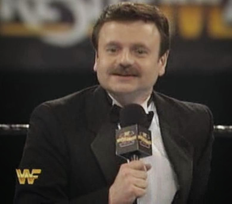 WWF / WWE: Wrestlemania 10 - Howard Finkle got a new head of hair