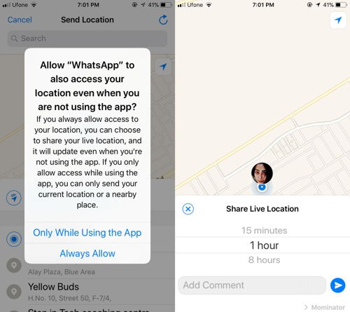 How To Share Your Live Location On WhatsApp