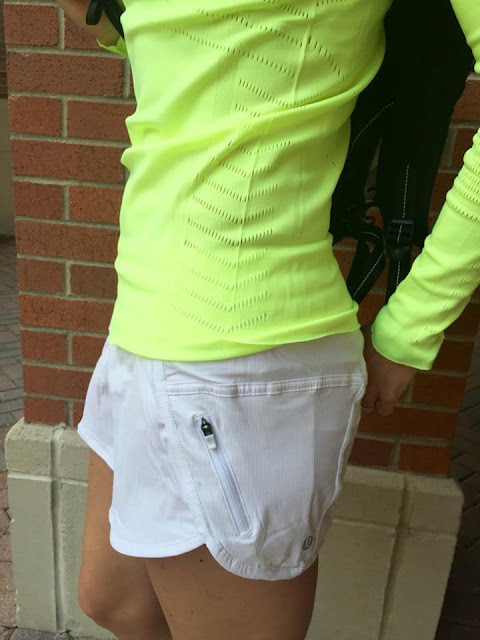lululemon  ray-light-speed-ls white-tracker-short